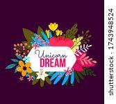 vector romantic nature... | Shutterstock .eps vector #1743948524