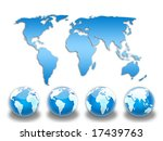 blue world map | Shutterstock . vector #17439763