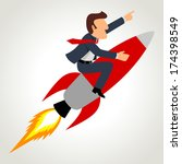 simple cartoon of a businessman ...   Shutterstock . vector #174398549
