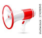 megaphone | Shutterstock .eps vector #174398945