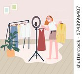 flat style vector illustration... | Shutterstock .eps vector #1743996407