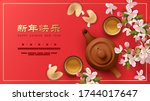 chinese new year concept.... | Shutterstock .eps vector #1744017647
