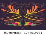 egypt posters  pattern  banner  ... | Shutterstock .eps vector #1744019981