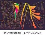 egypt posters  pattern  banner  ... | Shutterstock .eps vector #1744021424