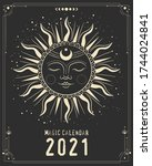 magic calendar 2021. mystical... | Shutterstock .eps vector #1744024841