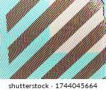 digital effects. multicolor... | Shutterstock . vector #1744045664