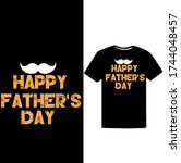 happy father's day. father's...   Shutterstock .eps vector #1744048457
