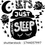 Lets Just Sleep Hand Drawn...