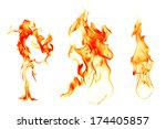 fire flames on black background   Shutterstock . vector #174405857