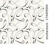 vector seamless pattern. modern ... | Shutterstock .eps vector #174409004