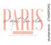 paris typography slogan for t...   Shutterstock .eps vector #1744095341
