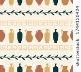 seamless pattern of set of... | Shutterstock .eps vector #1744120424