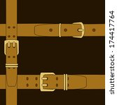 seamless background with belts | Shutterstock .eps vector #174417764