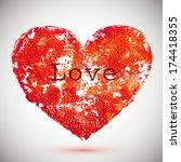 abstract stylish green heart ... | Shutterstock .eps vector #174418355