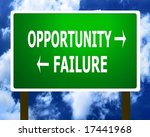 Opportunity failure sign symbol - stock photo