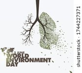 world environment day. save the ... | Shutterstock .eps vector #1744227371