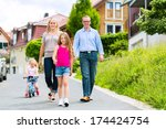 young family with mother ...   Shutterstock . vector #174424754
