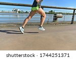 View Of Woman Legs During A...