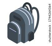 travel backpack icon. isometric ... | Shutterstock .eps vector #1744264364