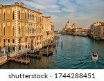 Venice, Italy - Palazzo Cavalli Franchetti and Santa Maria della Salute on the Grand Canal