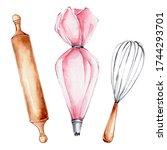 Kitchen Set Of Pink Pastry Bag  ...