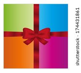 wrapped gift or gift card with... | Shutterstock .eps vector #174431861