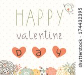 card for valentine's day | Shutterstock .eps vector #174432395