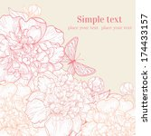hand drawn wedding invitation... | Shutterstock .eps vector #174433157