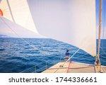 Sailing  Motor Catamaran.the...