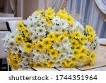 A Large Bouquet Of White And...