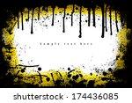 grunge frame. grunge background ... | Shutterstock . vector #174436085