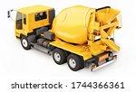 Orange Concrete Mixer Truck...