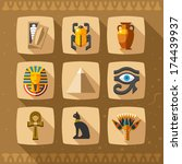 egypt icons and design elements ... | Shutterstock .eps vector #174439937