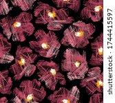 seamless pattern material of an ... | Shutterstock .eps vector #1744415597