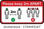 coronavirus social distancing... | Shutterstock .eps vector #1744443167