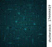 futuristic shining dark blue... | Shutterstock .eps vector #174444419
