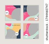 sale social media post...   Shutterstock .eps vector #1744460747