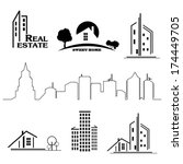 set of houses icons for real... | Shutterstock .eps vector #174449705