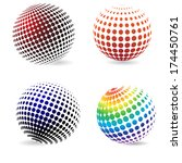 three dimensional color... | Shutterstock .eps vector #174450761