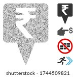 line collage rupee map pointer... | Shutterstock .eps vector #1744509821