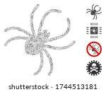 hatch mosaic parasite spider...   Shutterstock .eps vector #1744513181