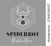 abstract logo spider robot...   Shutterstock .eps vector #1744518107