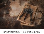 Old Vintage Keys On An Old...
