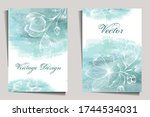 vintage design with flowers on...   Shutterstock .eps vector #1744534031