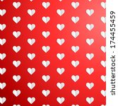 valentines day polka dot... | Shutterstock . vector #174455459