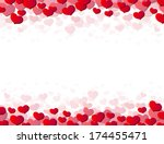 valentines day card with... | Shutterstock . vector #174455471