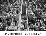 aerial view of manhattan  new... | Shutterstock . vector #174456527