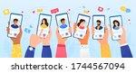 online dating service... | Shutterstock .eps vector #1744567094