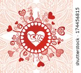valentines day card romantic... | Shutterstock .eps vector #174456815