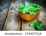 Fresh Spinach In A Bowl On...